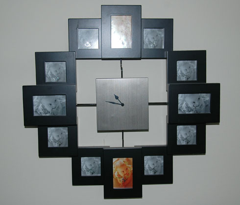 wall clock photo frame every month of the first year