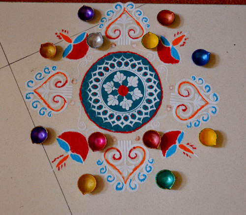 diya for rangoli