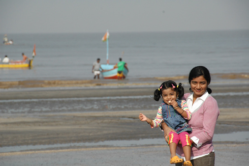 Fun at Jampore Beach in Daman