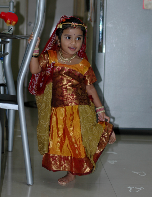 Radha dress on Gokulashtami