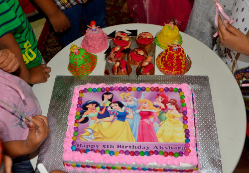princess theme birthday cake