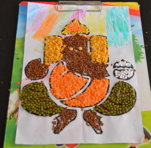 Multigrain Ganapati art